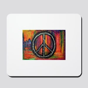 Rustic peace Mousepad