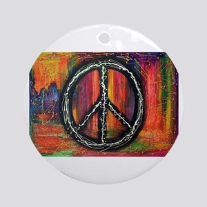 Rustic peace Round Ornament