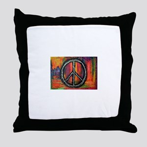 Rustic peace Throw Pillow