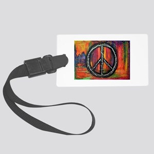 Rustic peace Large Luggage Tag