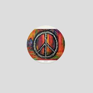 Rustic peace Mini Button