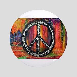 Rustic peace Button