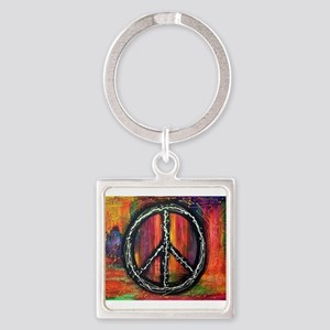 Rustic peace Keychains