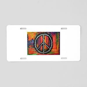 Rustic peace Aluminum License Plate