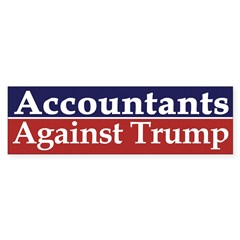 Accountants Against Trump Bumper Bumper Sticker