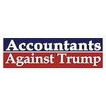 Accountants Against Trump Bumper Sticker