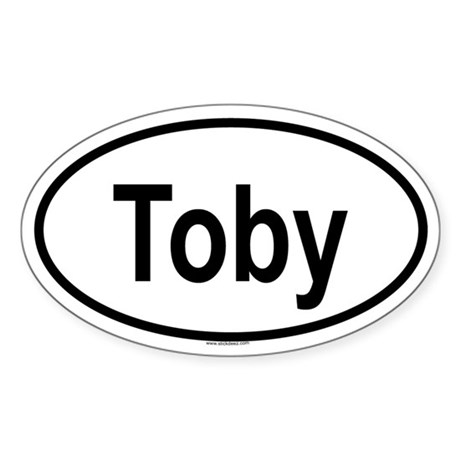 TOBY Oval Sticker