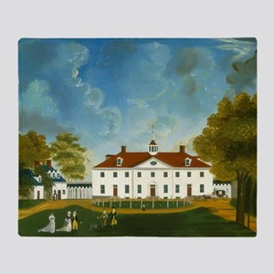 A View of Mount Vernon Throw Blanket