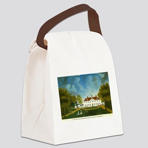 A View of Mount Vernon Canvas Lunch Bag