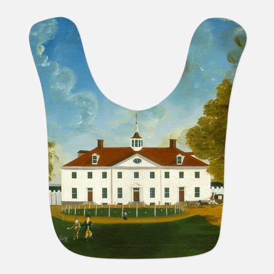 A View of Mount Vernon Polyester Baby Bib