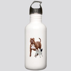 Pit bull pug 2 Stainless Water Bottle 1.0L
