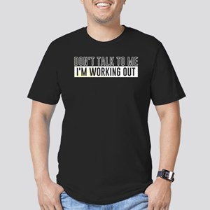 Don't Talk To Me Men's Fitted T-Shirt (dark)
