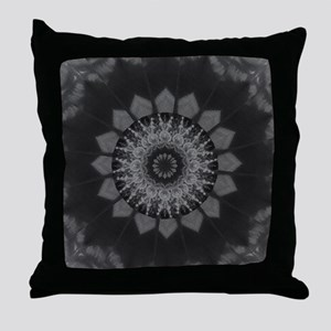 Coloured Gravel in Charcoal Throw Pillow