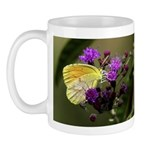 Clouded Sulfur Butterfly on Ironweed Mug