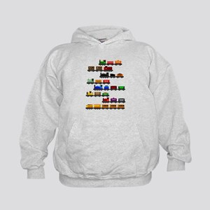 Too Many Trains White Lettering Sweatshirt