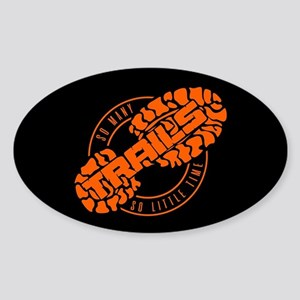So Many Trails Angled Orange Sticker (Oval)