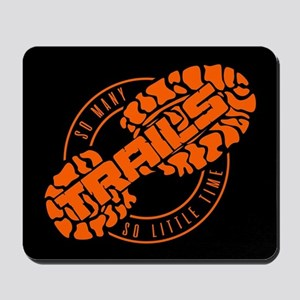 So Many Trails Angled Orange Mousepad