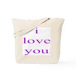 315. i love you..[purple] Tote Bag