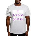 315. i love you..[purple] Ash Grey T-Shirt