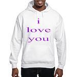 315. i love you..[purple] Hooded Sweatshirt