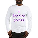 315. i love you..[purple] Long Sleeve T-Shirt