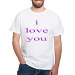 315. i love you..[purple] White T-Shirt