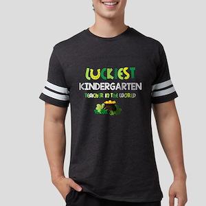 Luckiest Kindergarten Teacher Mens Football Shirt