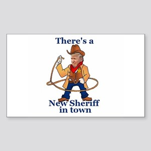 Trump New Sheriff 2017 Sticker
