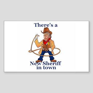 Trump New Sheriff 2017 Sticker