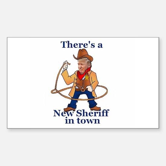 Trump New Sheriff 2017 Decal