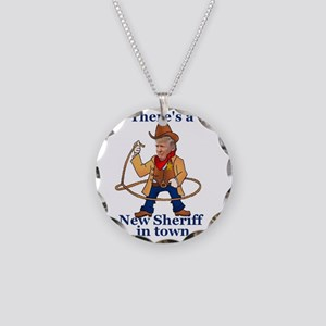 Trump New Sheriff 2017 Necklace Circle Charm