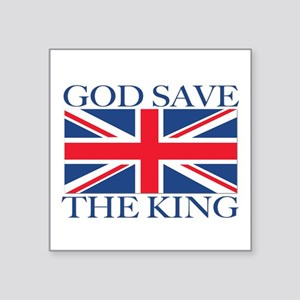 God Save the King, With Union Jack Sticker
