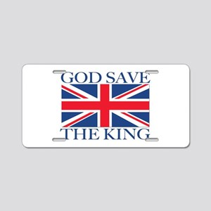 God Save the King, With Union Jack Aluminum Licens