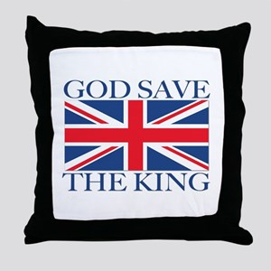 God Save the King, With Union Jack Throw Pillow