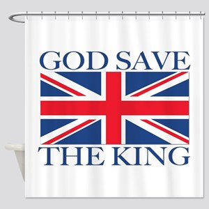 God Save the King, With Union Jack Shower Curtain