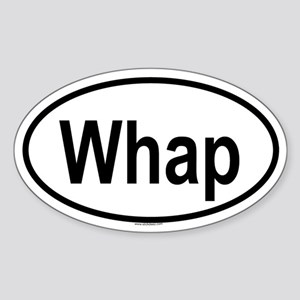 WHAP Oval Sticker
