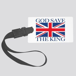 God Save the King, With Union Jack Luggage Tag