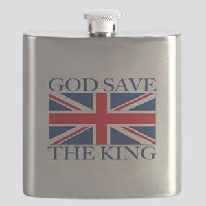 God Save the King, With Union Jack Flask