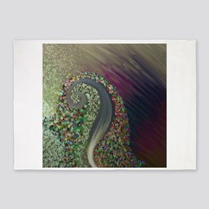Abstract by Leslie Harlow 5'x7'Area Rug