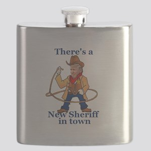 Trump New Sheriff 2017 Flask