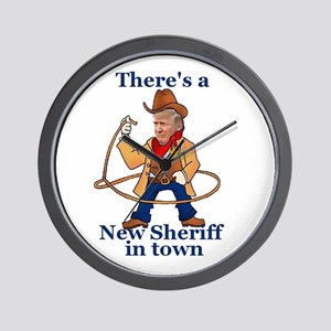 Trump New Sheriff 2017 Wall Clock
