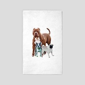 The dog posse Area Rug