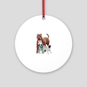 The dog posse Round Ornament