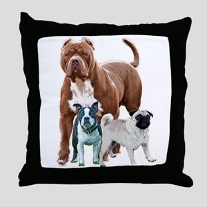 The dog posse Throw Pillow