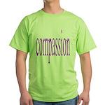 300. compassion [purple] Green T-Shirt
