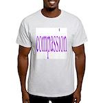 300. compassion [purple] Ash Grey T-Shirt