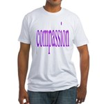 300. compassion [purple] Fitted T-Shirt