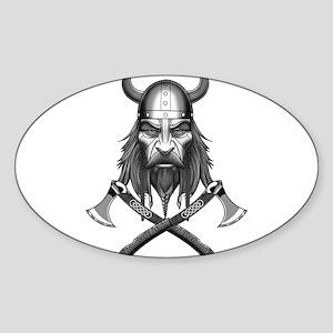 Viking Warrior Head Sticker