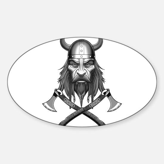 Viking Warrior Head Decal