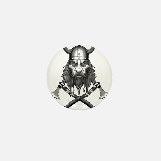 Viking Warrior Head Mini Button (10 pack)